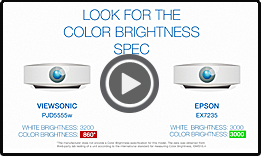 BenQ MX525 vs Epson EX5240 (1 minute)
