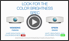 ViewSonic PJD5255 vs Epson EX5220 (1min)
